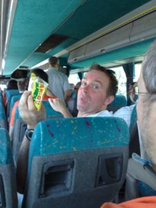 Grupperejse i bus